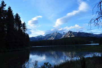 Two Jack Lake at dusk