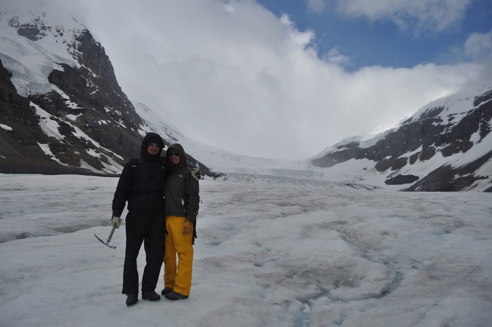Paul and I after hiking up Athabasca glacier