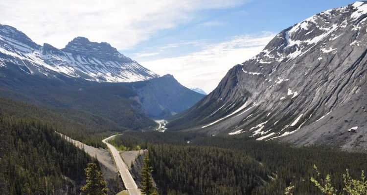 Just past the Weeping Wall, Icefields Parkway