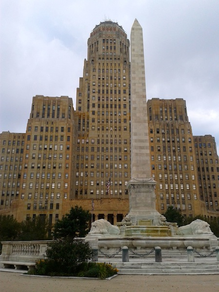 Buffalo City Hall where we obtained our license