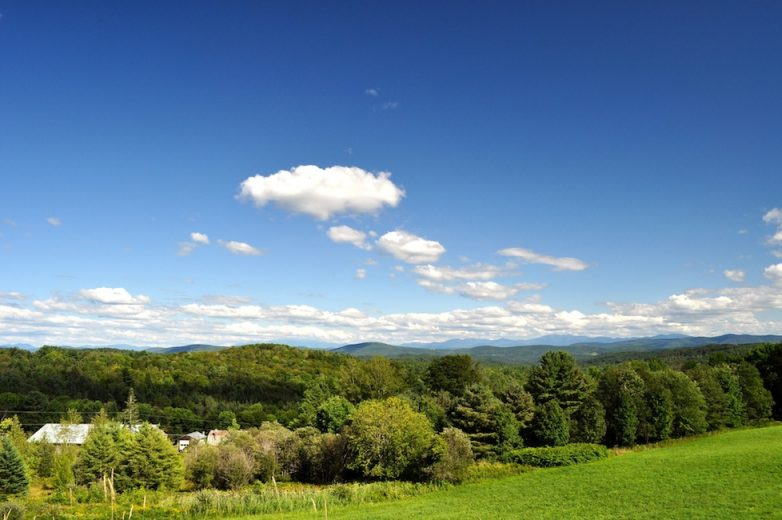 The rolling hills of Vermont