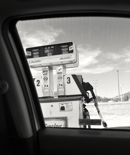Gas station in nowhere, Wyoming