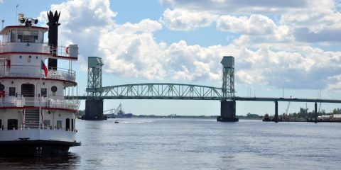 The Cape Fear River from Wilmington Riverwalk