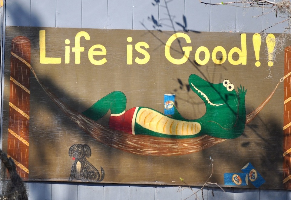 Life is good on the bayou