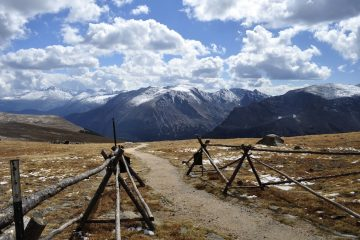 Rocky Mountain National Park, view from a small trail at the top of Trail Ridge Road