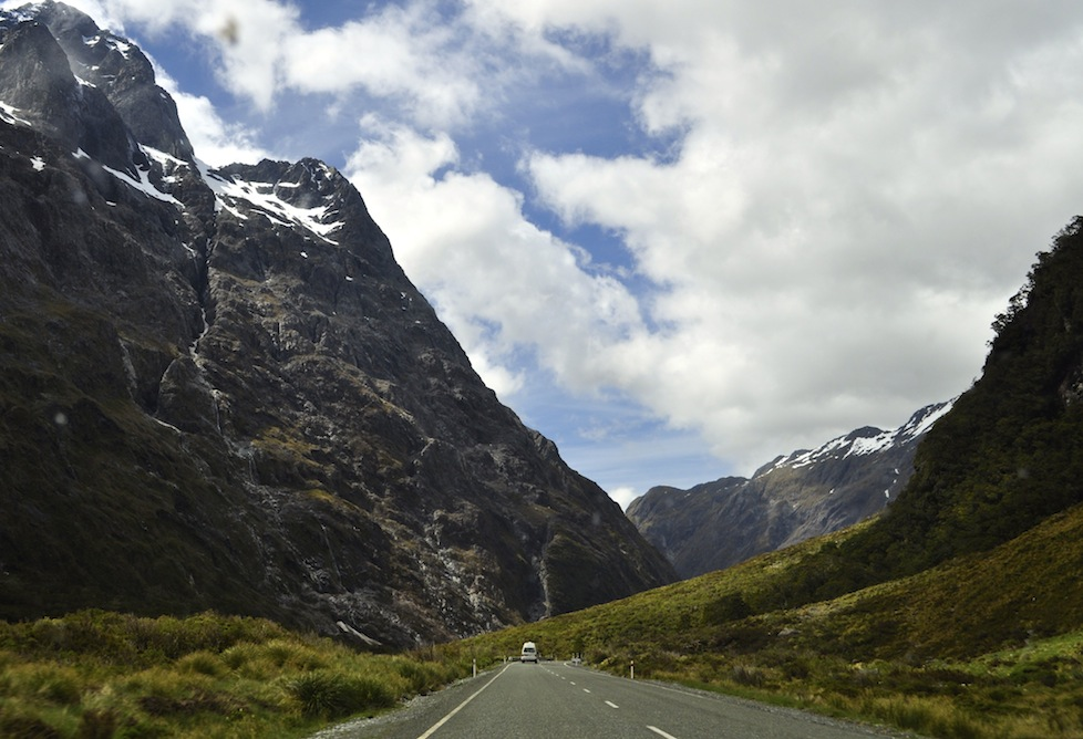 On the way to Milford Sound
