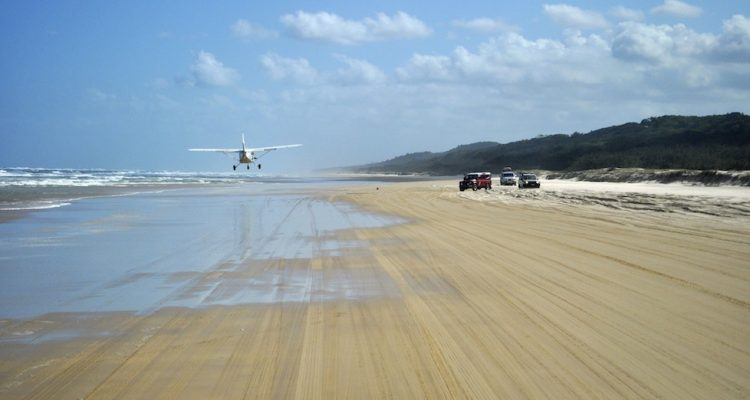 Landing on the beach