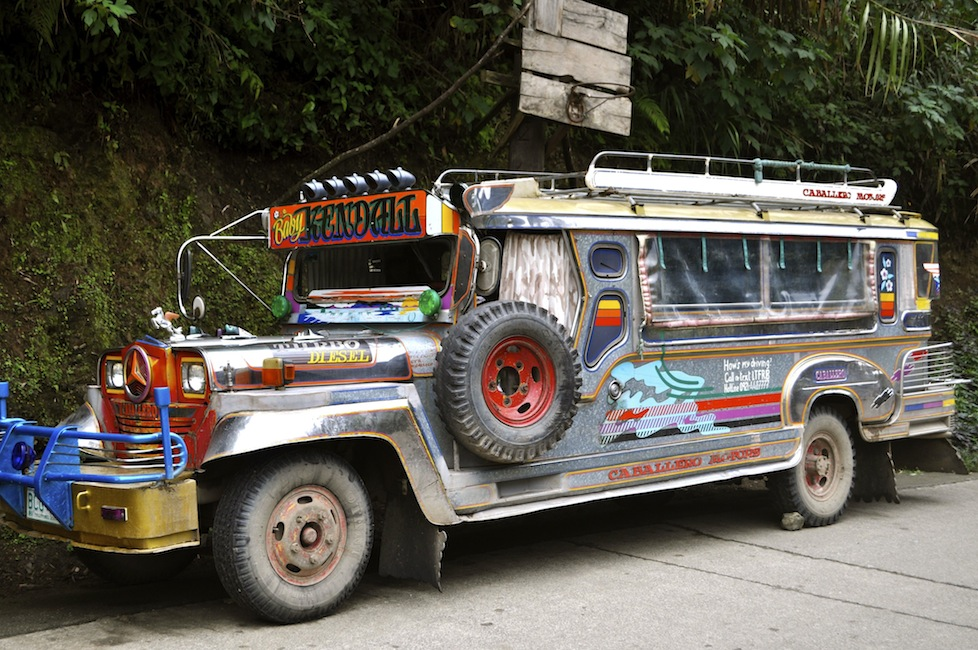 Our favourite mode of transport - the jeepney. A product of the American occupation that has developed over the years