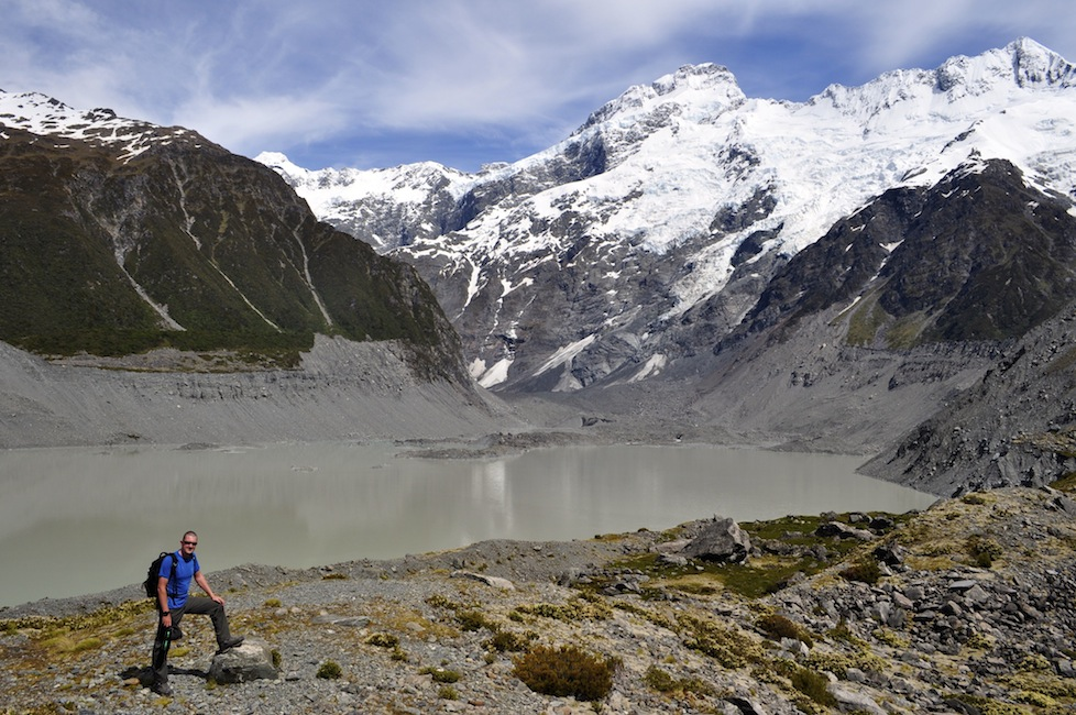 Paul on the Hooker Valley Track - New Zealand