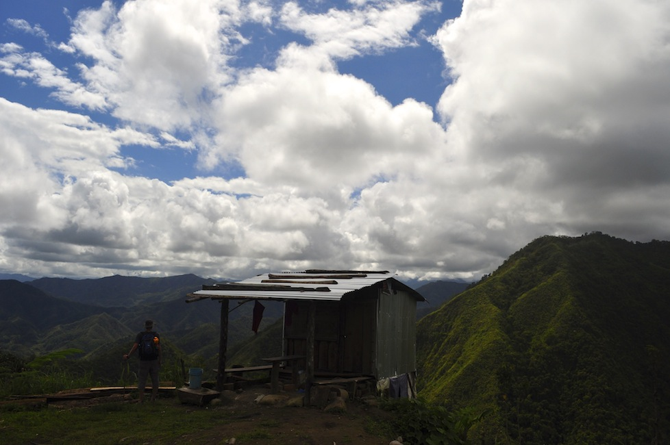 Shack with a view - the trail to Batad