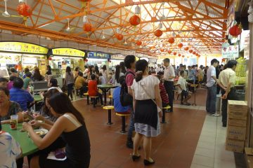 Inside one of the wondrous Singapore food courts - Maxwell
