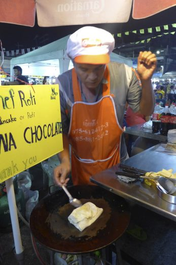 Banana and chocolate roti Krabi Weekend Night Market