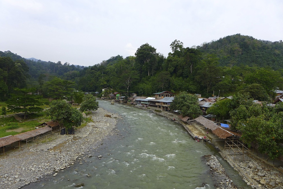 The village of Bukit Lawang