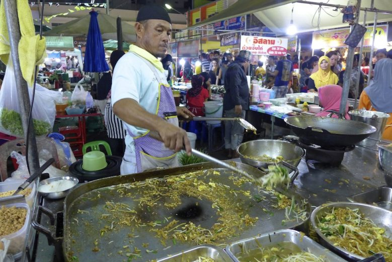 Phad Thai being created Krabi Weekend Night Market