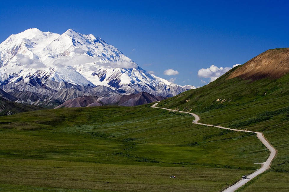 Stunning Mt McKinley in Denali National Park, Alaska