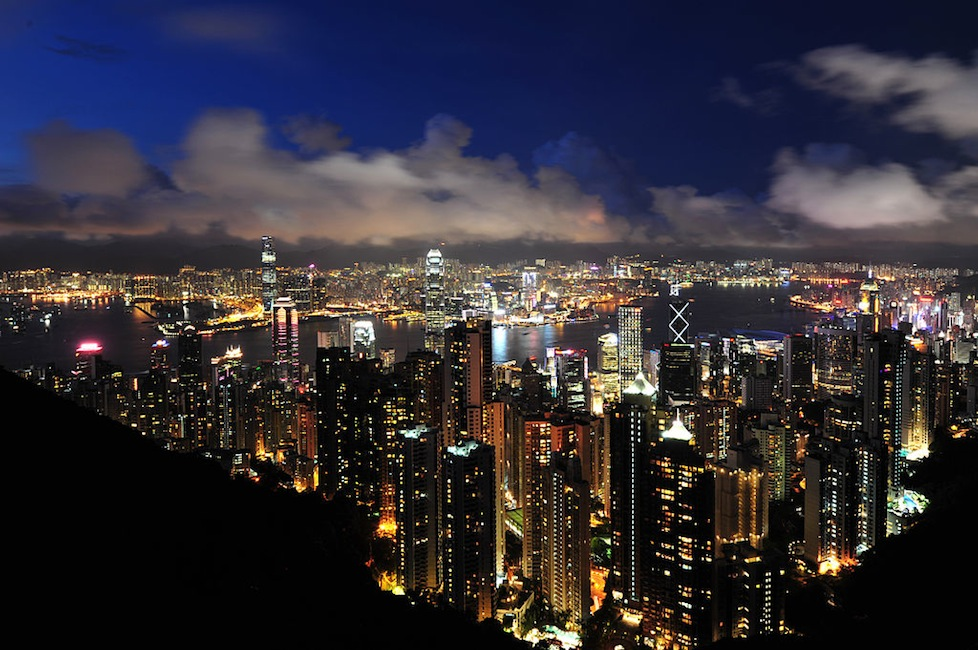 The skyline of Hong Kong in all its glory