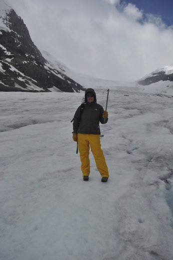 Maddie Deaton hiking on Athabasca Glacier, Canada
