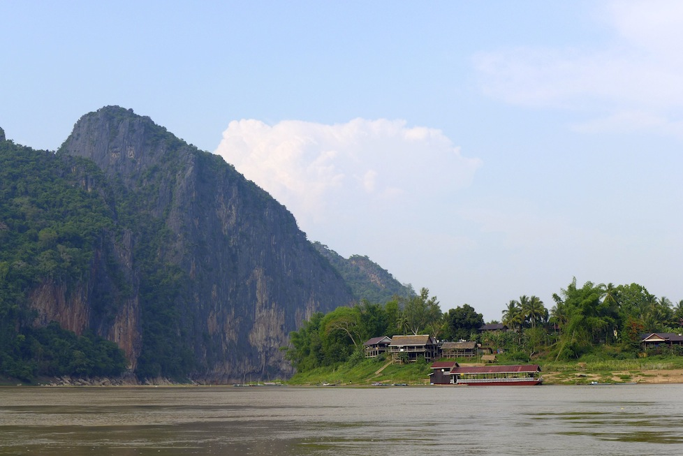 The stunning scenery on the mighty Mekong