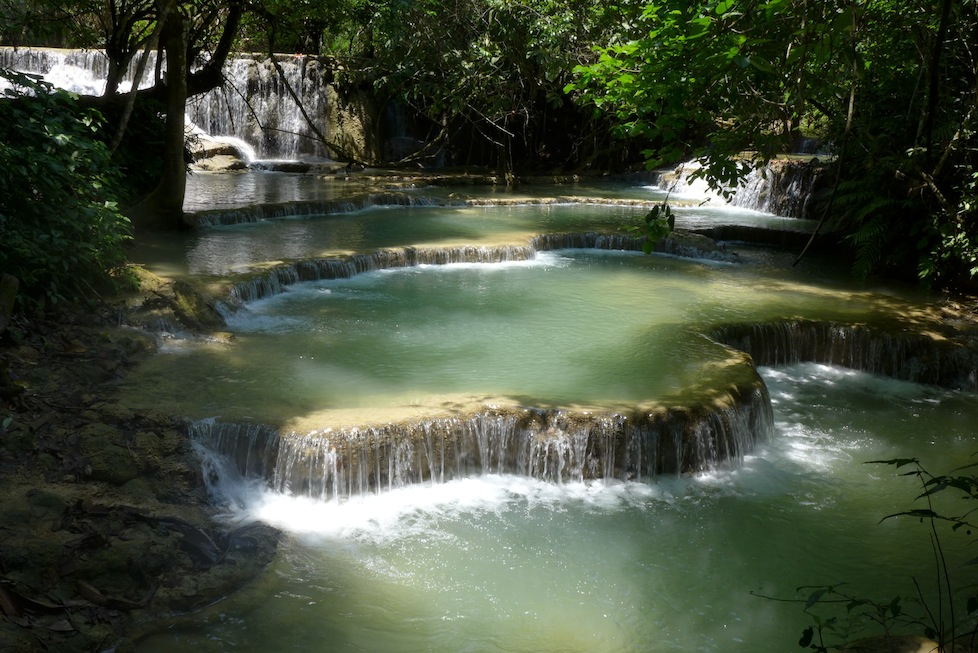 Gorgeous Kuang Si waterfalls - this is one of the swimming holes