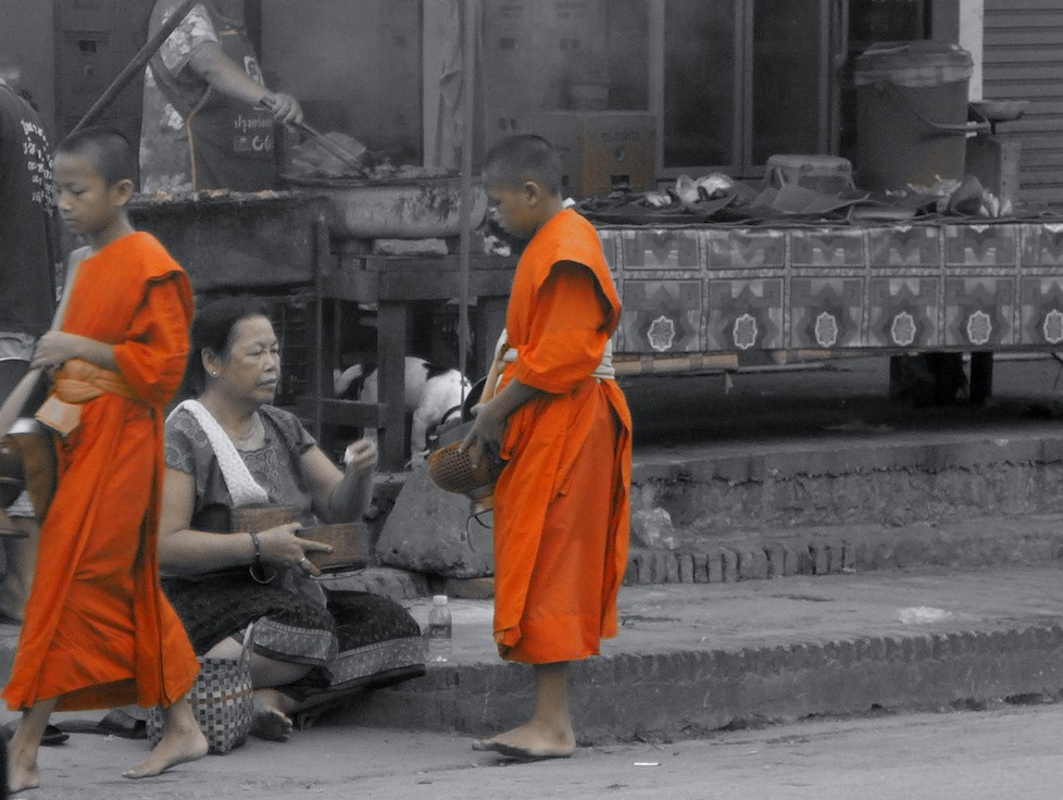 Giving of the alms - Luang Prabang
