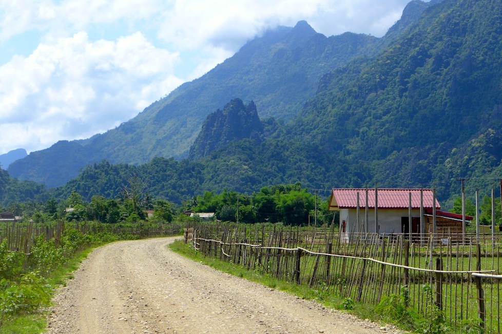 The stunning countryside just outside of Vang Vieng