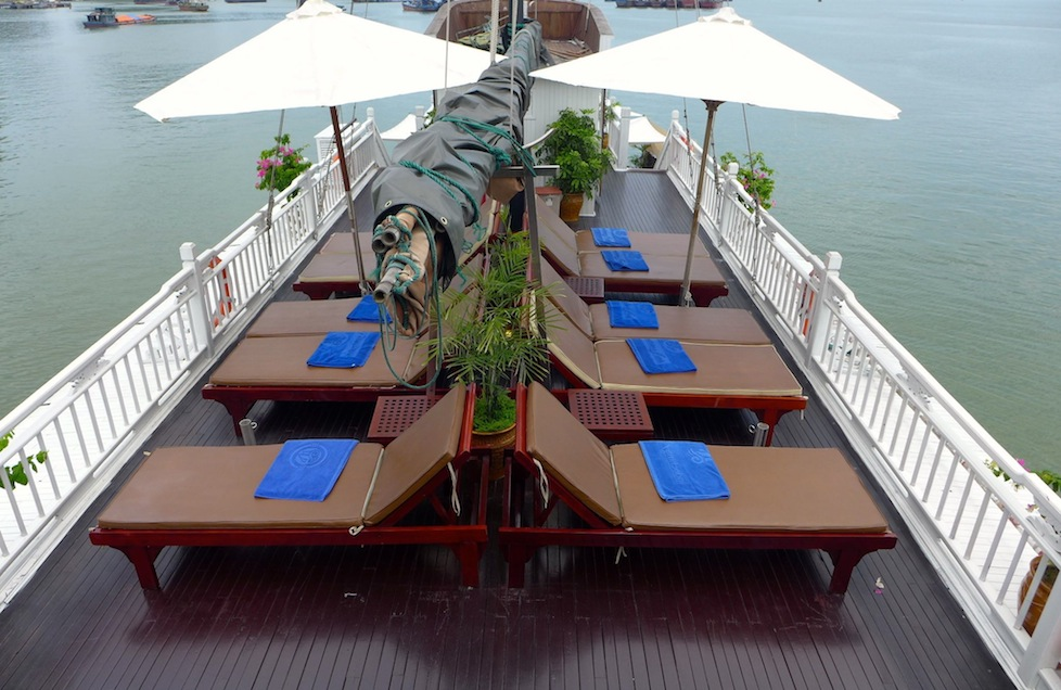 The sun deck on the Dragon Pearl III