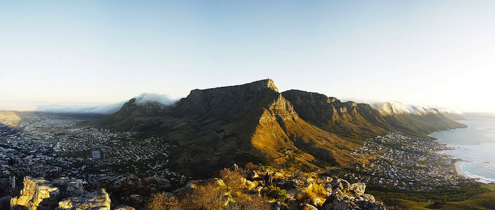 Looking down over Capetown from Lion's Head