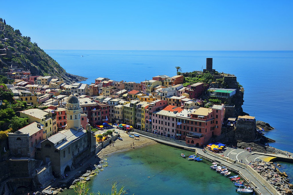 Vernazza on the Cinque Terre coast, Italy