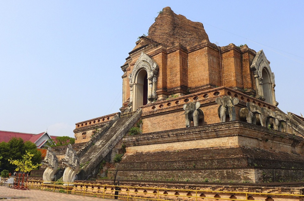 One of the ancient temples in Chiang Mai