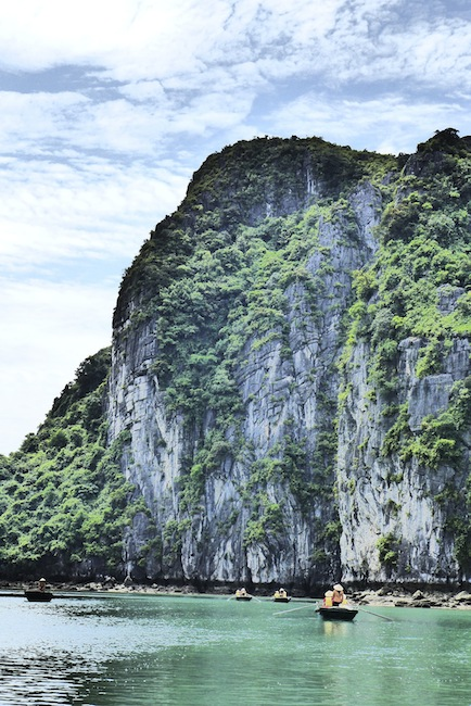 Enormous karsts of Halong Bay