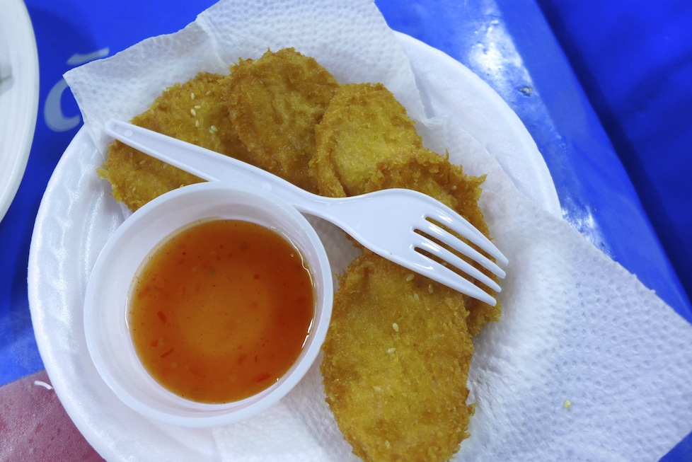Prawn cakes - eaten every day for a week!