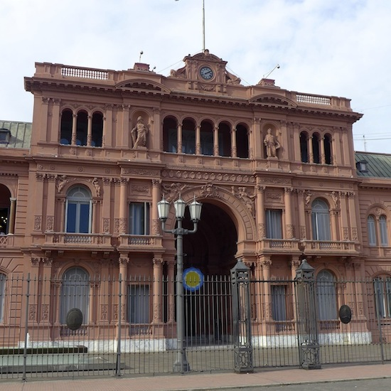 The Casa Rosada on our walking tour