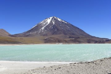 The stunning Laguna Verde with Licancabur Volcano in the background