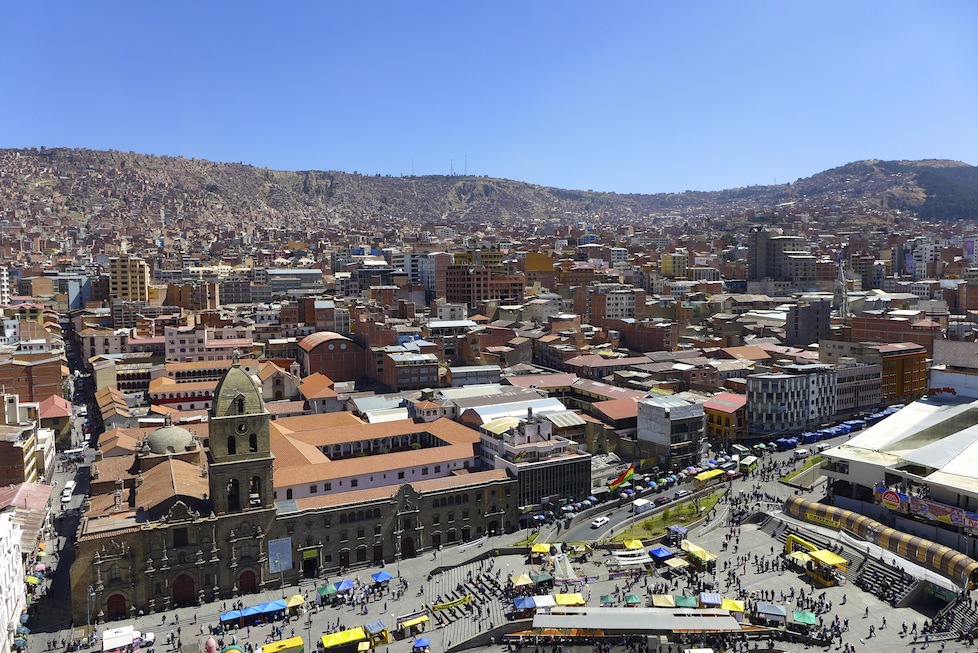 Looking down on La Paz