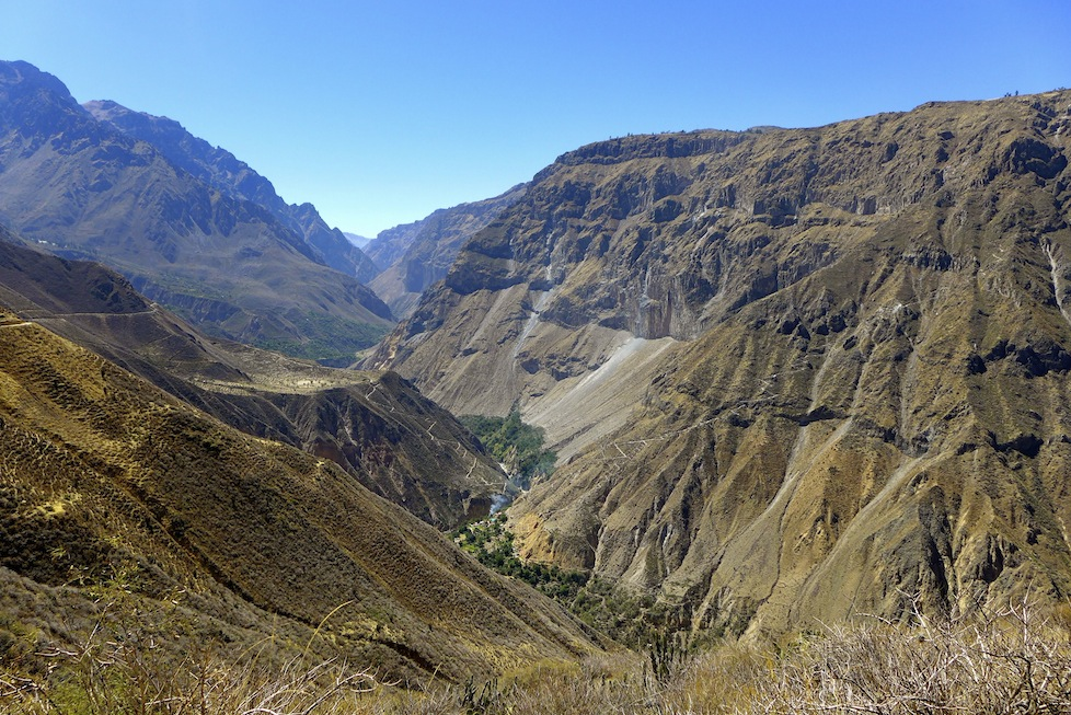 The stunning vista of Colca Canyon