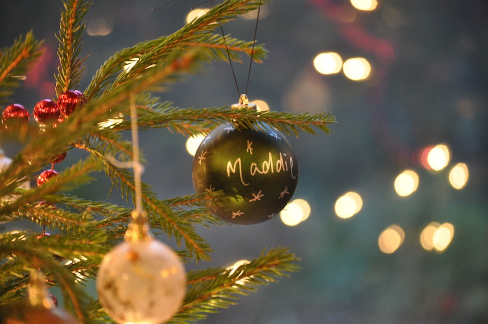 Our beautiful Christmas tree with my very own bauble