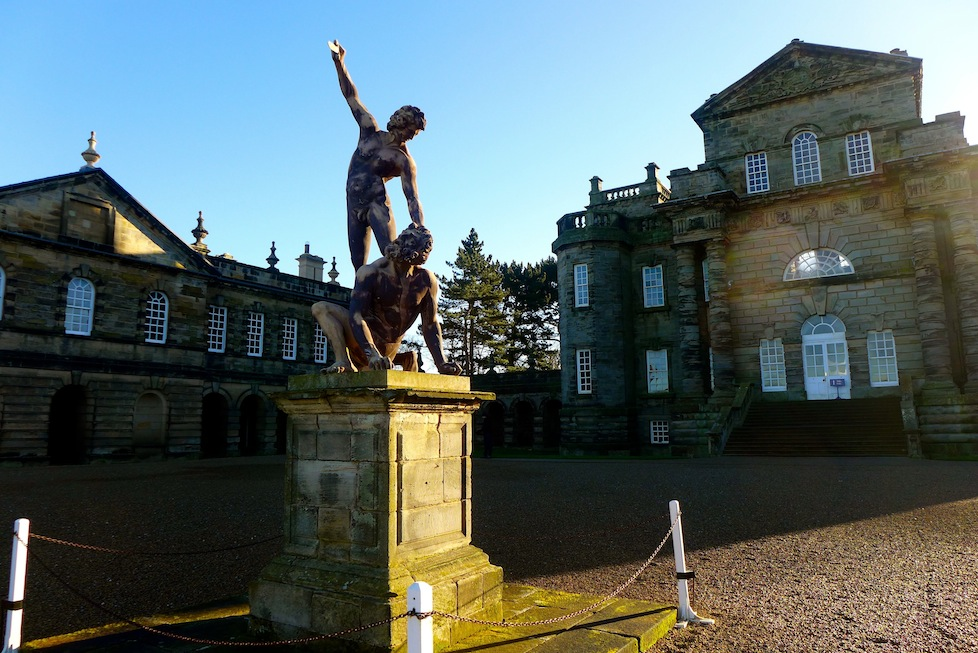 The lovely main entrance and courtyard to Seaton Delaval Hall
