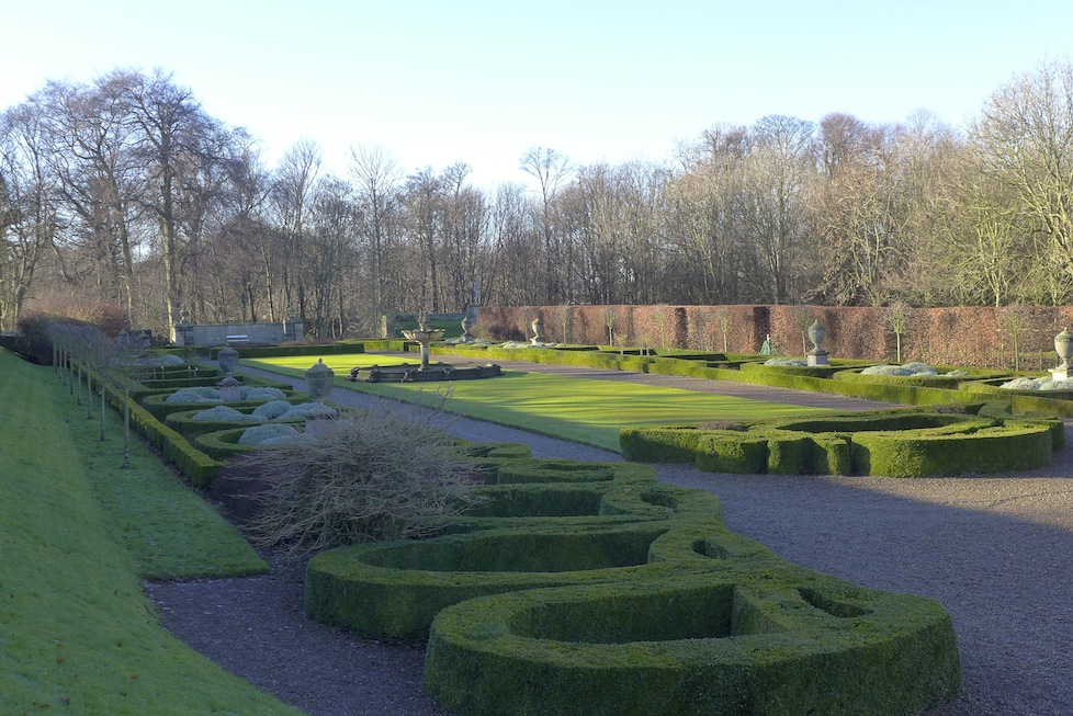 The rose garden - Seaton Delaval Hall