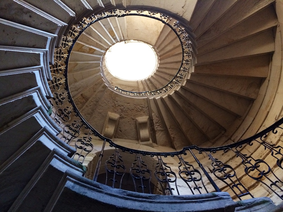 The lovely and partially derelict staircase at Seaton Delaval Hall
