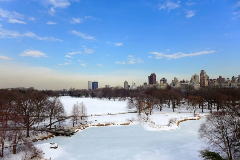 A blanket of snow covering Central Park