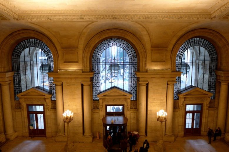 E41st Street from inside the NYC Public Library