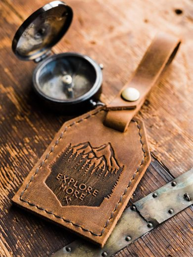 Etsy Leather Luggage Tags