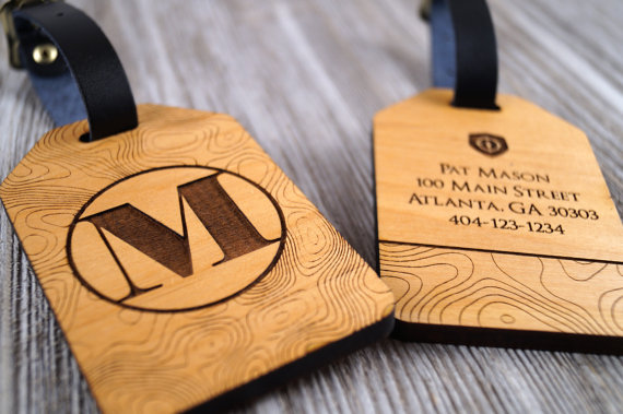 Wooden Luggage tags Etsy